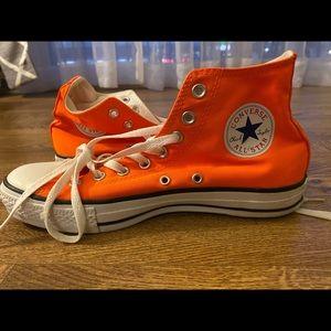 orange high top converse